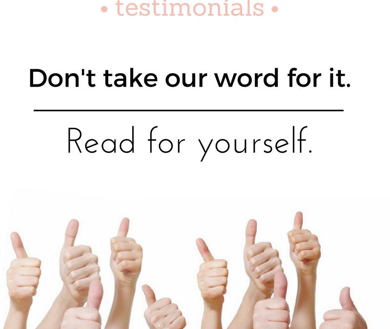 Our Take on Testimonials