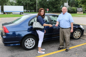 Baidaa gets the keys to her new car