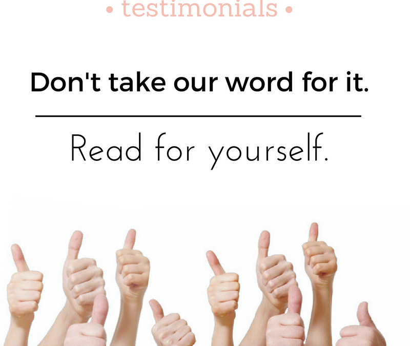 Our Take on Testimonials